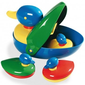 Three little ducklings hide inside Mother duck. The happy family swims together to allow endless water play at bath time. Available at www.childrensdept.com.au