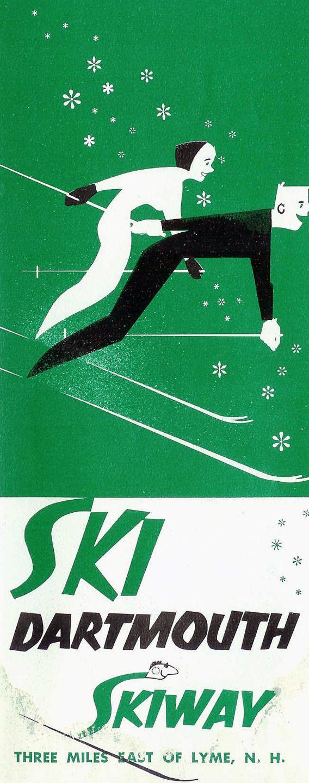 Dartmouth Skiway (NH) - vintage ski poster