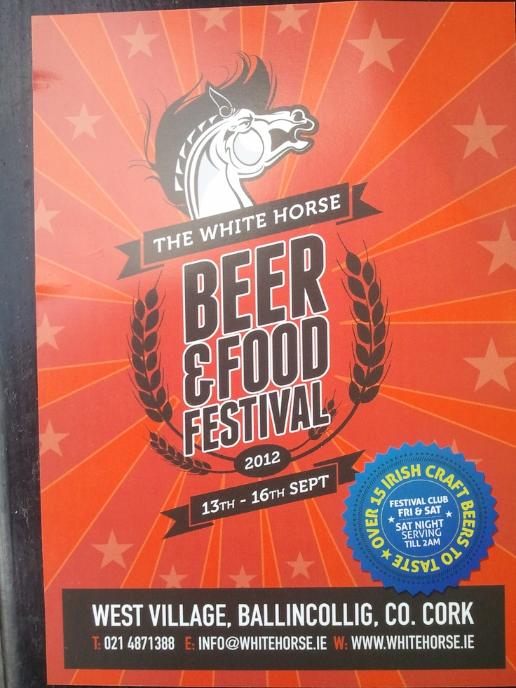 White Horse Beer and Food Festival 13th - 16th Sept