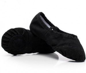 ballet shoes 10 black leather toe