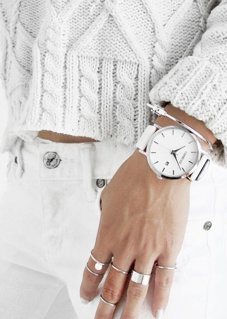 All white • Charlize Watches • via @c.phraph