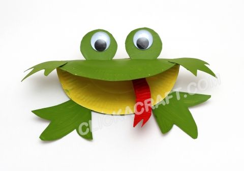 Paper Plate Frog - 4 - Click on image to see step-by-step tutorial.