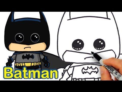 How To Draw Batman Cute And Easy Kids Fun Stuff Pinterest Cute