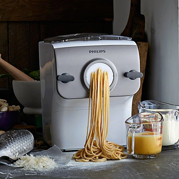 Philips Pasta Maker | Williams-Sonoma - $300 for a pasta maker. I dunno if that's cheap, but I remember the Phillips no-grease air-fryer, so I thought, why the heck not?