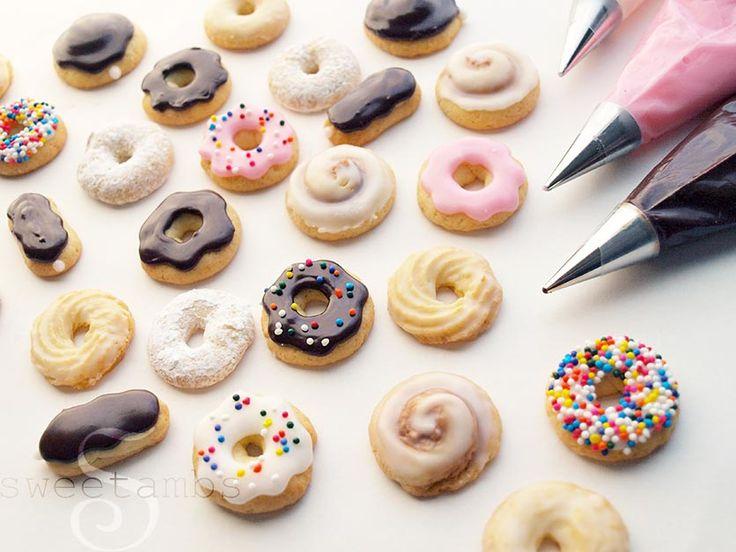 Mini Donut Cookies Mini Cookies Cookies Cupcake Cookies