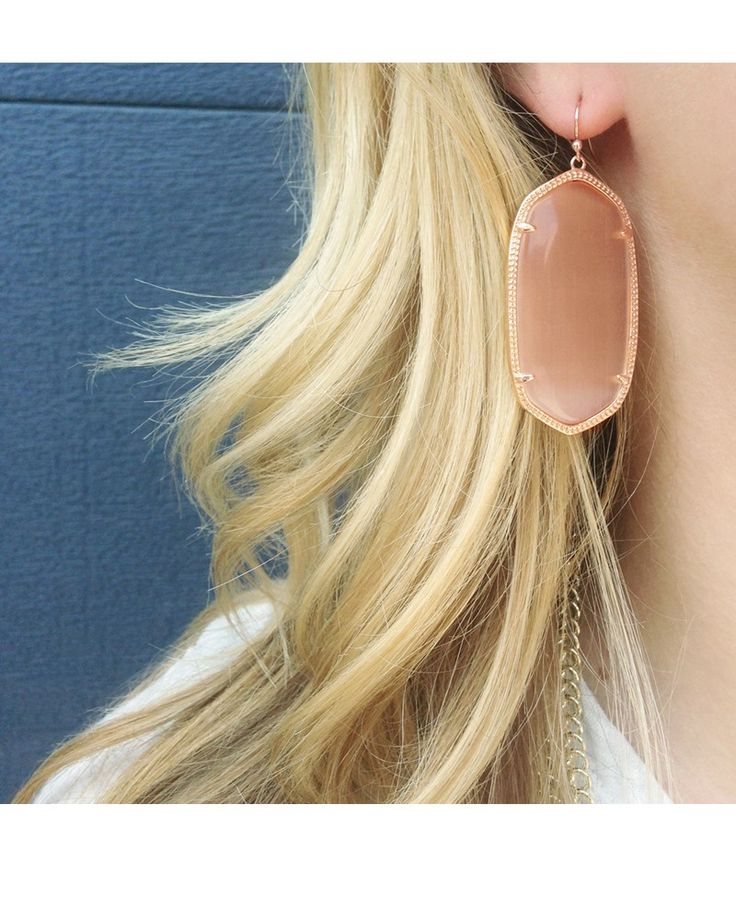 Danielle Rose Gold Earrings in Peach - Kendra Scott Jewelry. Coming October 15!