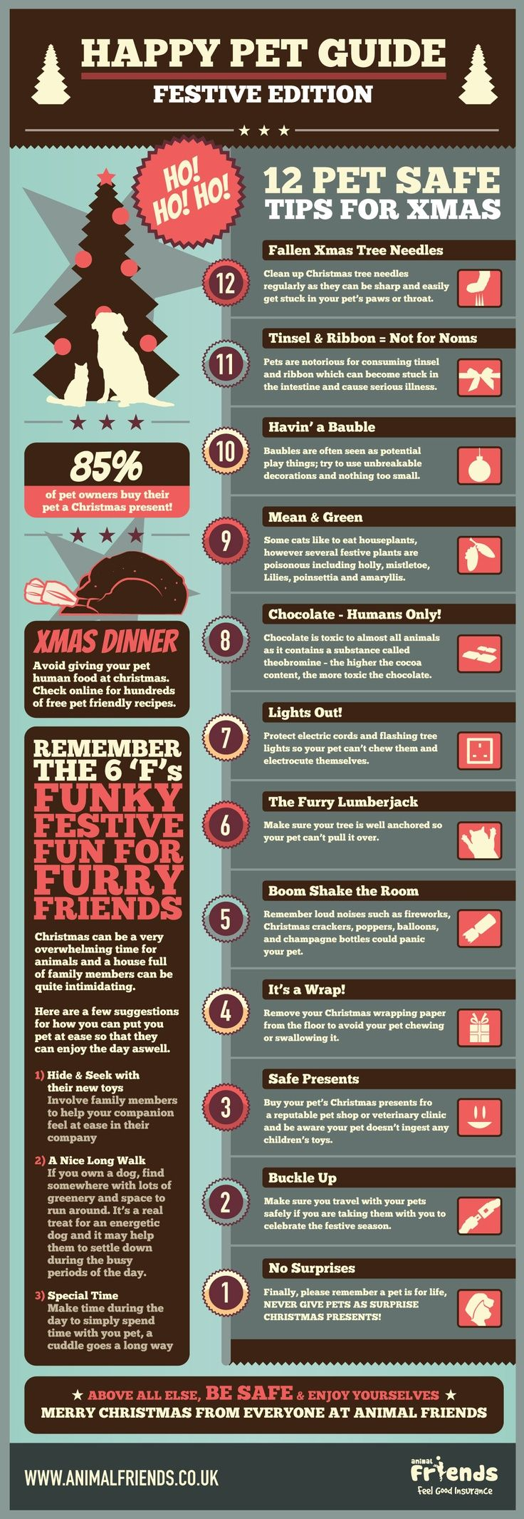Christmas Pet Safety! #infographic #holidays Second Hope Circle helps special needs pets in Ontario find homes through promotion, education and funding! www.secondhopecirle.org