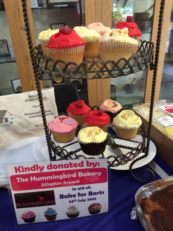 When we are not raising money for Barts Cancer Institute's research through sporting challenges, we raise money with cake. It balances out.