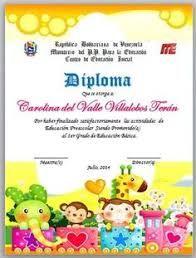 Resultado de imagen para diplomas de preescolar editables