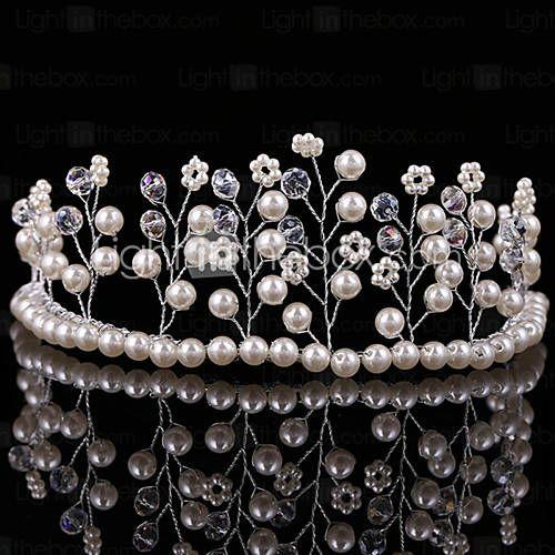 couronne de mariée perles