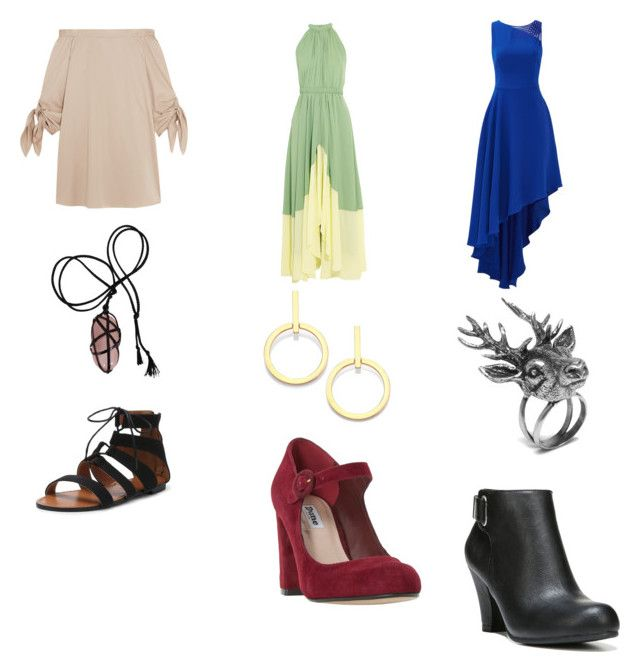 """""""17"""" by drile on Polyvore featuring TIBI, Saloni, Vita Fede, Dune, Halston Heritage, Mulberry and Fergalicious"""