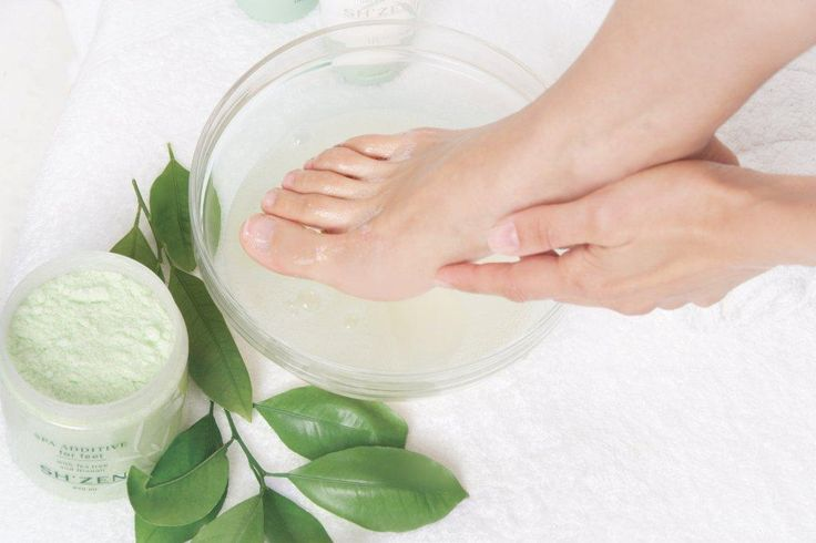 The first step to a perfect pedicure - Soaking feet in the Sh'Zen Spa Additive.  http://www.shzen.co.za/feet_deodorising.php