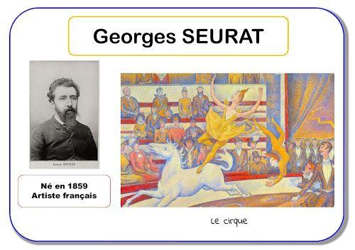 pointillisme Georges Seurat - Portrait d'artiste en maternelle
