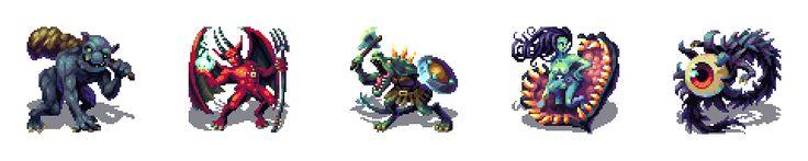 16-Bit - Classic RPG Monster Set by Cyangmou.deviantart.com on @DeviantArt
