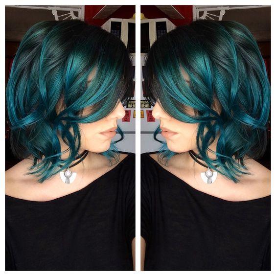 Grune Farbe Wow : Die besten 17 Ideen zu Grüne Haare auf Pinterest  Dunkelgrüne haare