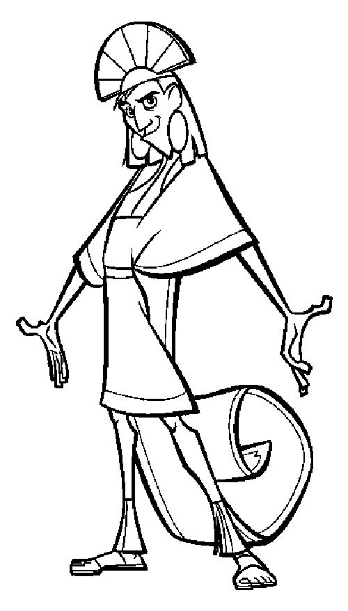 kronk coloring pages - photo#17
