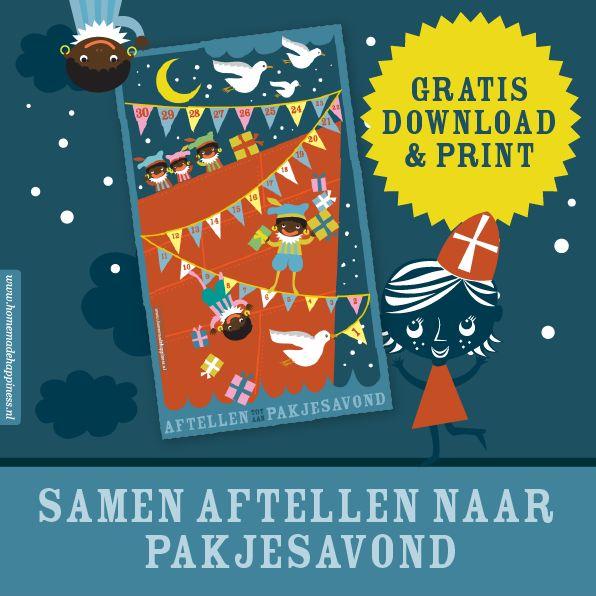 Samen aftellen naar Pakjesavond? Download de GRATIS Aftelkalender voor #Sinterklaas 5 december!