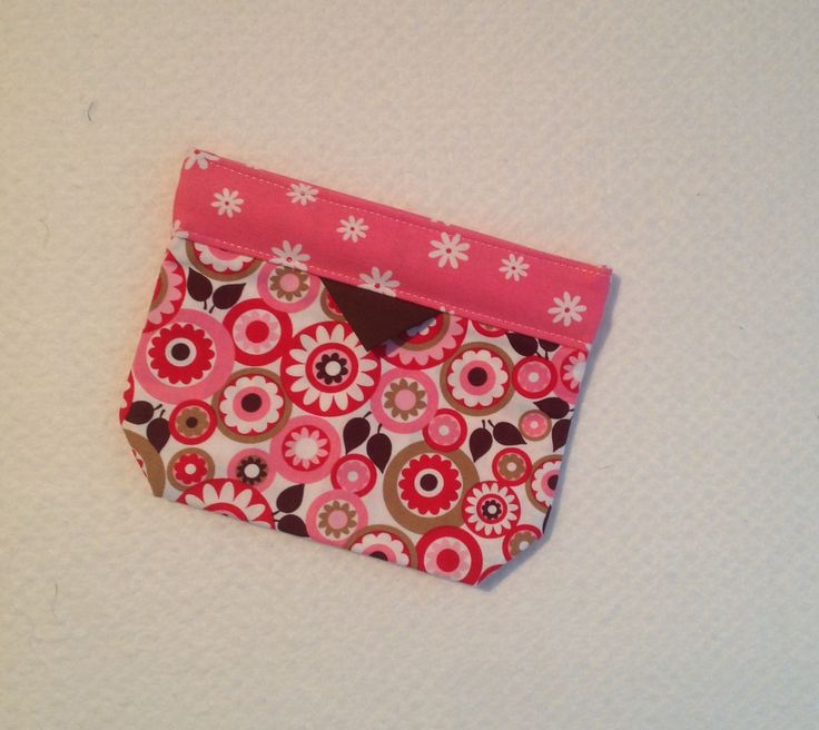 Bag, Clutch, Purse, Click -it Bag, Tote Bag, Cosmetic Bag, Gift, Pink, Brown and White Floral by AlidanCreations on Etsy