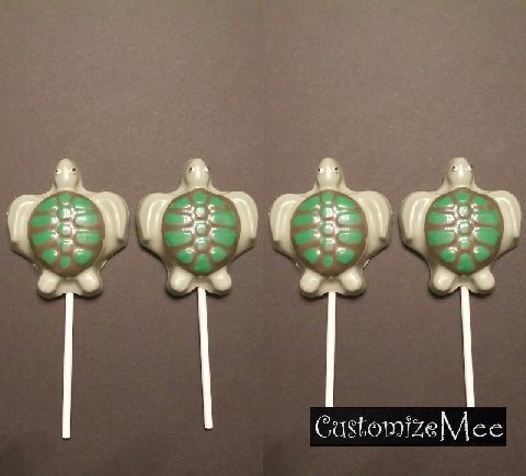 672 Sea Turtle Chocolate or Hard Candy Lollipop Mold