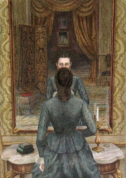 Lucie at the mirror. (Angela Barrett ~ Anna Karenina.)