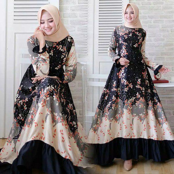 Model Baju Gamis Bunga2 Terbaru Mode Sederhana Gaya Abaya Busana Islami