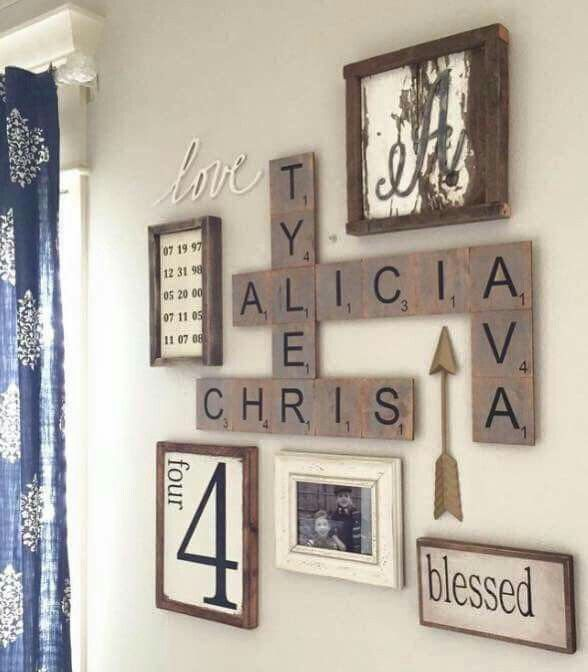 17 best ideas about scrabble wall art on pinterest for Kitchen cabinets lowes with my thoughtful wall letter art