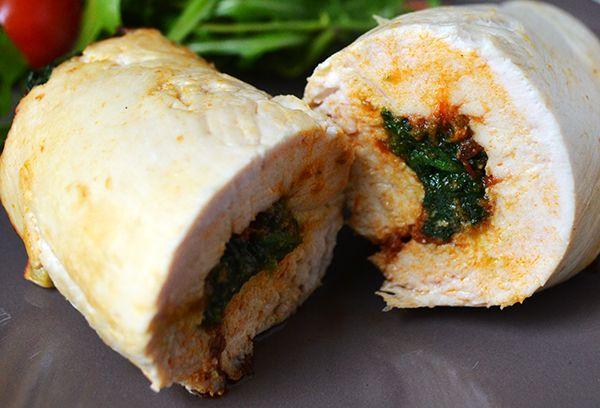 Super Healthy Sunday: Gevulde kipfilet met spinazie