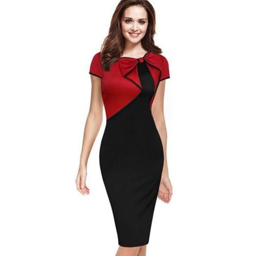 Women Sexy Elegant Business Work Office Pencil Dress Slim Party Cocktail Dresses