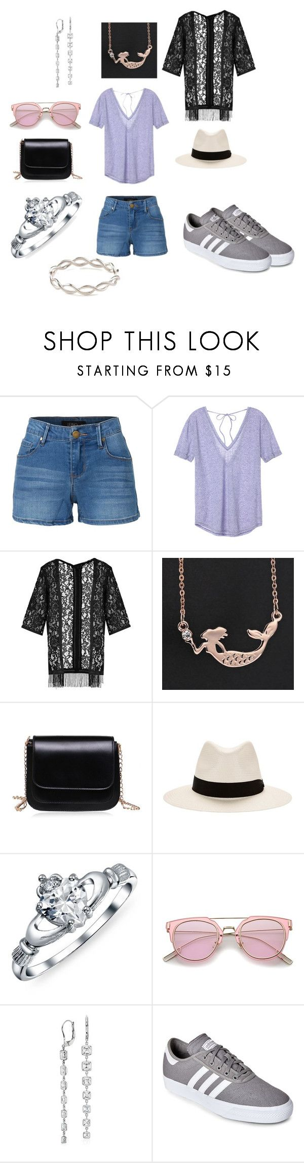 """""""San Diego County Fair"""" by kahley-stewart on Polyvore featuring LE3NO, Victoria's Secret, Boohoo, rag & bone, Bling Jewelry, Blue Nile, adidas and Pernille Corydon"""