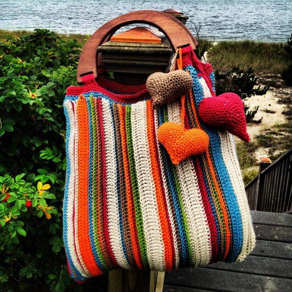 Nantucket Crochet Handbag via Etsy