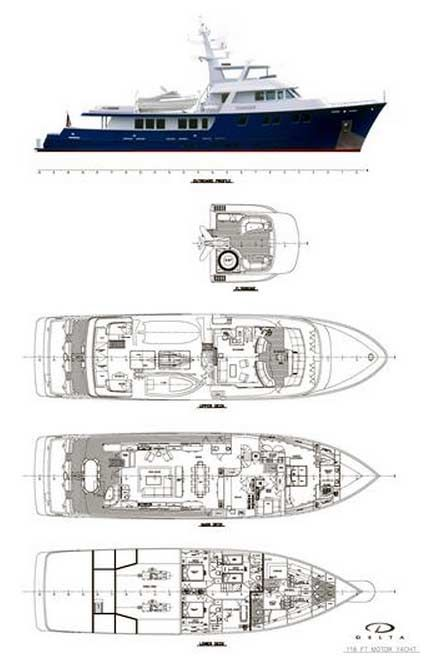 Delta Yacht for Sale Layout