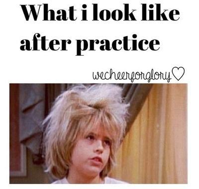 Hahaha cheerleading