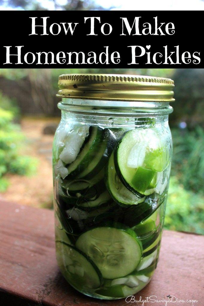 How To Make Homemade Pickles, #Easy, #Gluten, #Homemade, #Pickles