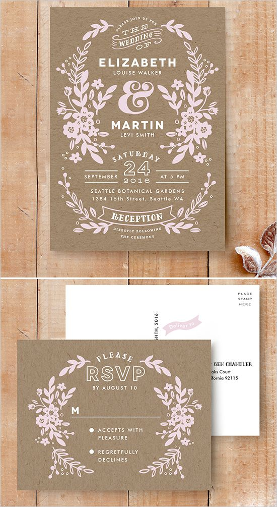 Ampersand Wedding Invitation from Minted @weddingchicks