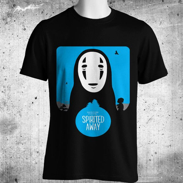 Spirited Away Anime Black T-Shirt FREE SHIPPING