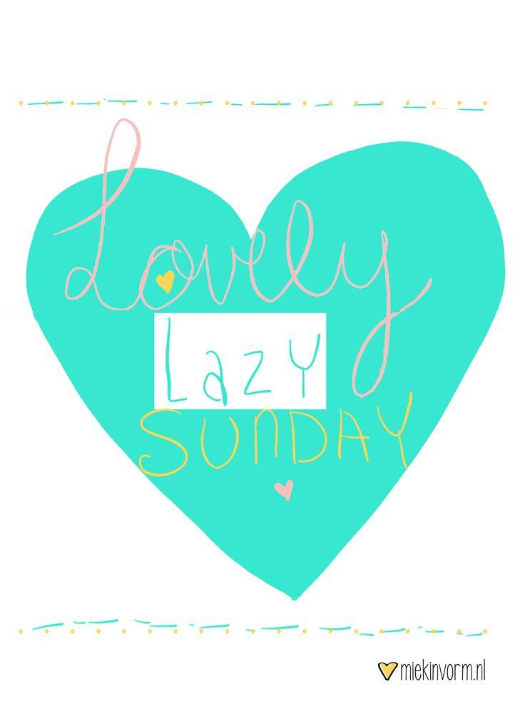 Lovely lazy sunday || Made by www.miekinvorm.nl || illustration + design