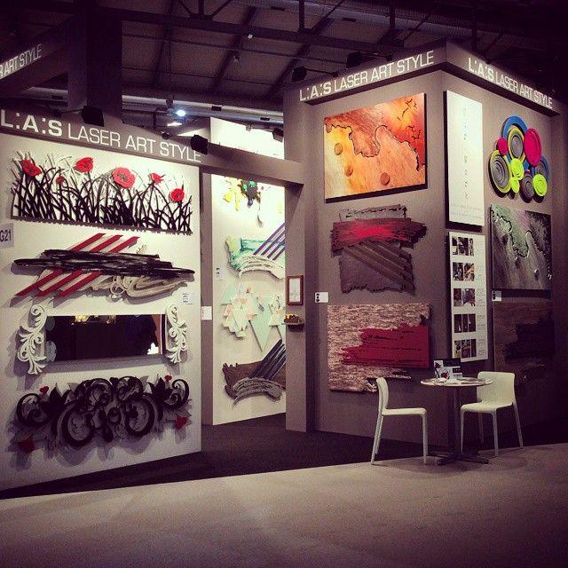 #BackstageLAS L.A.S. at the @homimilano! Have you already seen our album on Facebook? #laserartstyle #interiordesign #homedecor #Milano
