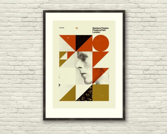DAVID BOWIE London Rainbow Theatre 20 x 28 by CONCEPCIONSTUDIOS