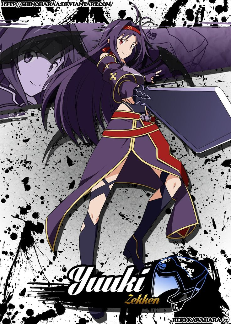 SAO KonnoYuuki Personagens de anime, Anime, Sword art