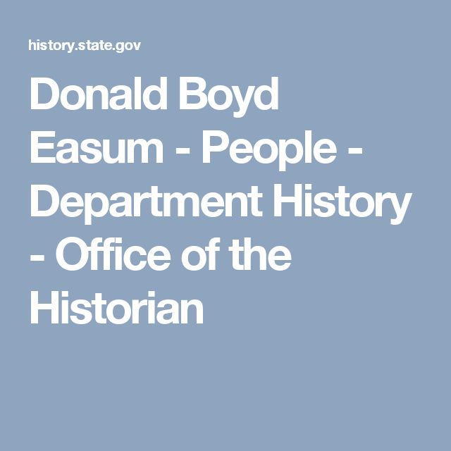 1923–2016 ANGOLA: Donald Boyd Easum - People - Department History - Office of the Historian.