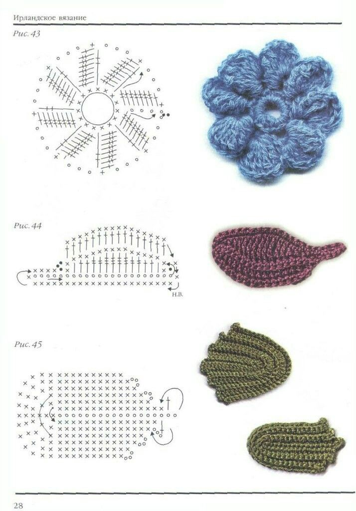 Mejores 816 imágenes de Вязание en Pinterest | Artesanías, Punto de ...