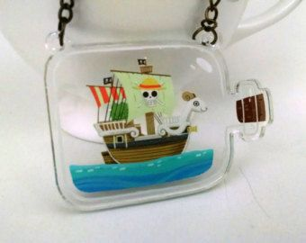 Kracken Attack Ship in a Bottle clear acrylic by theGorgonist