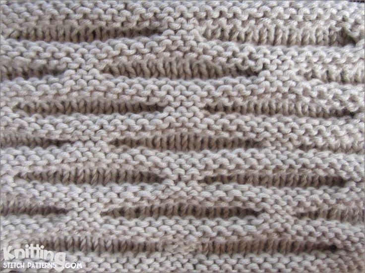 Honeycomb stitch | knittingstitchpatterns.com
