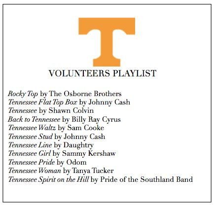 Tennessee Vols Playlist