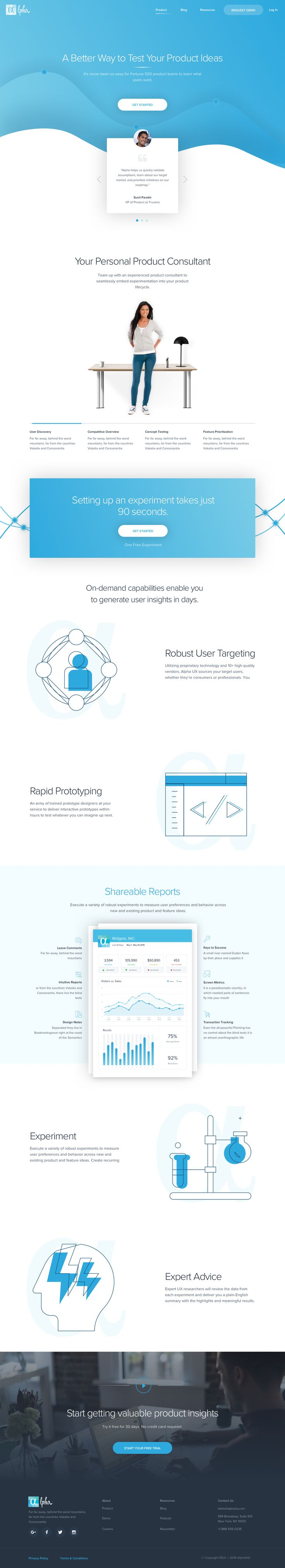 Product Featuers Landing Page