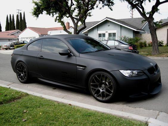 #BMW mat siyah