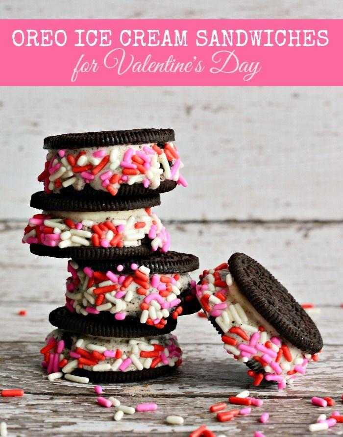 OREO Ice Cream Sandwiches for Valentine's DayValentine'S Day, Oreo Ic...