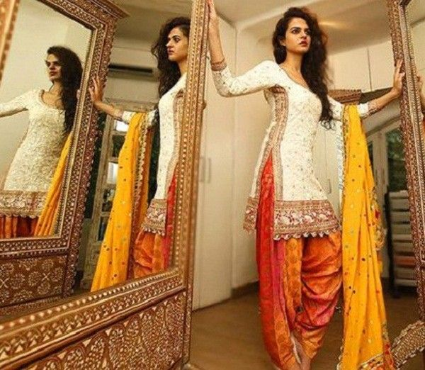 Chanderi+Silk+Machine+Work+Off-White+Unstitched+Patiala+Suit+-+1615 at Rs 1299
