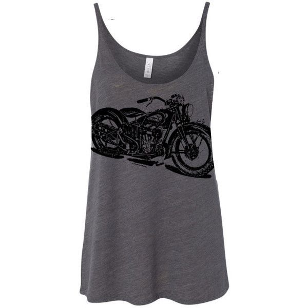 Womens Vintage Indian Motorcycle Print Graphic Modern Fashion Boho... ($22) ❤ liked on Polyvore featuring tops, shirts, tanks, white, women's clothing, white tank, yoga shirt, tank top, vintage shirts and boho shirts