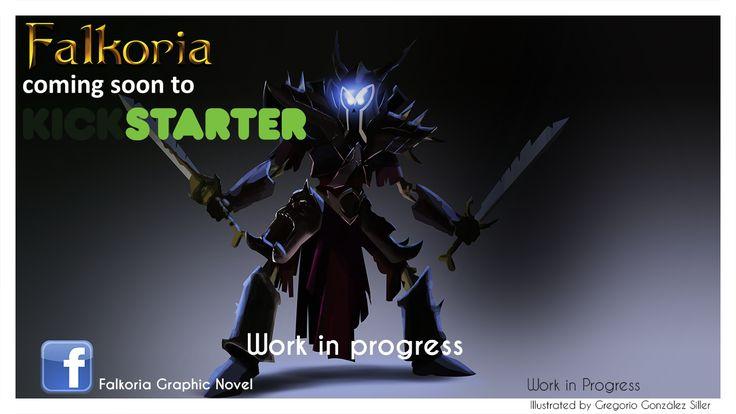 Undead warrior concept art for Falkoria Graphic Novel